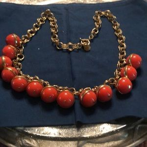 J Crew gold with orange balls-vintage